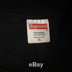 100% Authentic Supreme Nas Tee Black XL