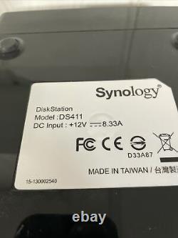 12 TB Synology Disk Station DS 411 4 Bay Gigabit NAS USB ESATA (3x 4TB Drives)