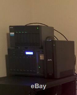 140TB QNAP TVS-1282T3-i7-64GB 12 Bay Thunderbolt NAS Server + Drives/Expansion