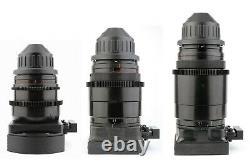 @ 3x LOMO ANAMORPHIC 35 50 75 Lens Set with ARRI PL Arriflex Mount NAS BAS SF @