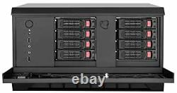 8-bay SAS-12G/SATA-6G hot-swappable heigh performance NAS chassis, support Mi
