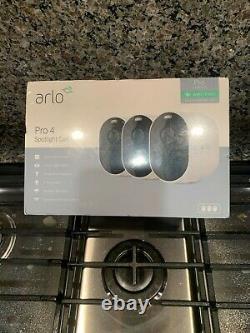 ARLO PRO 4 LATEST MODEL 3 SPOTLIGHT CAMERA SYSTEM VMC4350p-100NAS
