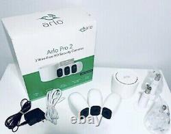 ARLO Pro 2 3 Wire-Free HD Rechargeable 2-way Indoor/Outdoor Security Cameras