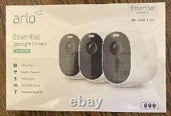 Arlo Essential 3-Cam Kit Wired or Wireless Security Camera 3-Pack VMC2330-100NAS
