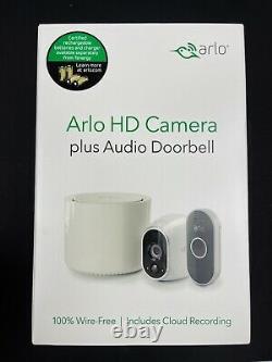 Arlo HD Wireless Camera plus Audio Doorbell Security System Black/White