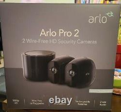 Arlo Pro 2 1080p 2-Camera Indoor/Outdoor Wireless Security Camera System Black