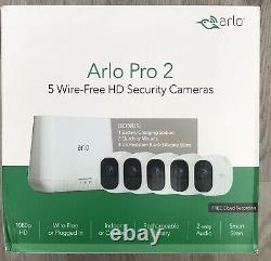 Arlo Pro 2 Camera Security System 5 Pack HD Cameras (VCS4500C) Used- 48
