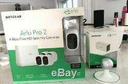 Arlo Pro 2 Indoor/Outdoor 4-Camera 1 Wireless Security Camera System With Extras