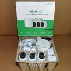 Arlo Pro 2 Wireless HD 3 Camera Security System Indoor/Outdoor 1080p Free Ship