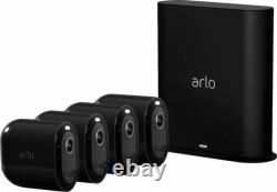 Arlo Pro 3 4-Camera Indoor/Outdoor Wireless BLACK Security Camera System NEW