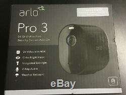 Arlo Pro 3 Indoor/Outdoor 2K HDR Wire Free Security Camera Black #0058