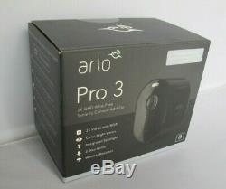 Arlo Pro 3 Indoor Outdoor 2K HDR Wireless Security Camera VMC4040B-100NAS Black