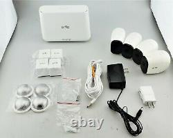 Arlo Pro Indoor/Outdoor Wireless HD Security System 4 Pack White Good Shape