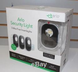 Arlo Security Light Als1103c-100nas Netgear 3 Wire-free Smart Lights