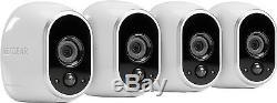 Arlo Smart Home Security Camera System / 4 HD Wire-Free Indoor/Outdoor Night NIB