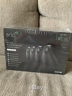 Arlo Ultra 4k Uhd Wire-free 4 Camera Security Camera System Black! New
