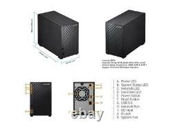 Asustor AS1002T v2, 2-Bay NAS (Diskless), Marvell Armada 1.6 GHz Dual-Core, Pers