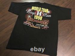 BOYZ II MEN BOOTLEG VTG TOUR SHIRT 1998 rap to 2pac nas wu tang biggie supreme