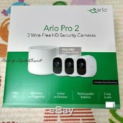 Brand New Arlo Pro 2 WiFi HD 3-pack Camera Wire-Free Security System Bundle 2way