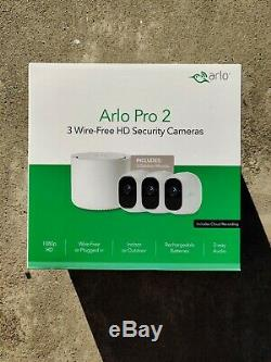 Brand New Arlo Pro 2 WiFi HD Wire-Free 3 Camera Security System Bundle BNIB