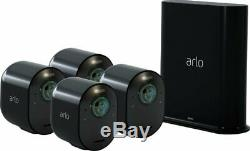 Brand New Arlo Ultra 4-Camera Wire-Free 4K HDR Security Camera System Black