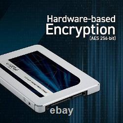Crucial MX500 2TB SATA 6Gb/s 3D NAND 2.5 Desktop SSD (CT2000MX500SSD1)