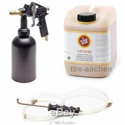 Druckbecherpistole TBS 222 + Fluid Film NAS 5 Liter Korrosionsschutz Rostschutz