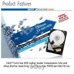 HGST 6TB HDD 3.5 SATA Deskstar NAS 128MB 7200 RPM HDN726060ALE614 CCTV DESKTOP