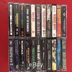 Hip Hop Rap Cassette Lot of 22 NAS, 2Pac, Ice Cube, Public Enemy, Beastie Boys