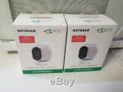 LOT 2 Netgear Arlo Add-on Wire-free HD Security Camera VMC3030-100NAS BRAND NEW