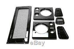 Land Rover Defender 90 / 110 Mesh Style Grille & Headlamp & Vent Surround Kit