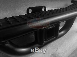 Land Rover Defender Nas Rear Step Bumper For 90 & 110 2 Receiver With Black Top