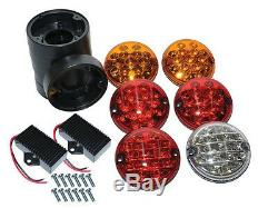 Land Rover Defender Nas Style Led Upgrade Rear Lamps Kit Oem Wipac 95mm Da1143