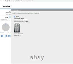 Lenovo EMC IX2 Network Attached Storage NAS 2-Bay 2TB 4TB 8TB Diskless