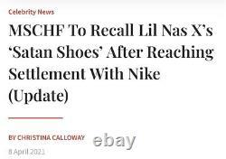 Lil Nas X Satan x MSCHF x INRI Air Max 97 Size 11 #628/666 IN HAND READY TO SHIP