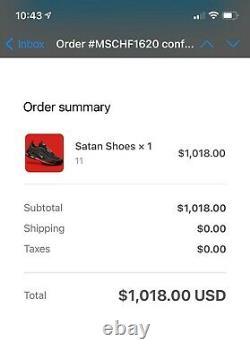Lil Nas X x MSCHF Nike Air Max 97 Satan Shoes /666 Size 11 (Confirmed Order)