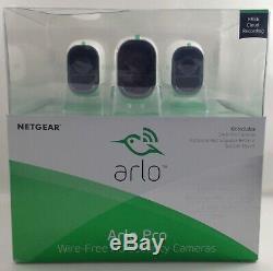 NETGEAR 3 Arlo Pro Cameras Wire-Free HD Security Cameras AVM4000C-100NAS