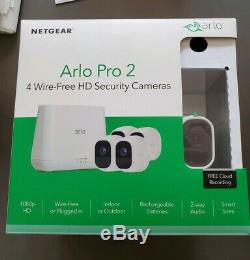 NETGEAR Arlo Pro 2 Wireless Security 4 Camera System, extras, silicone skins