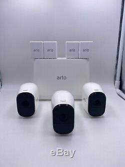 NETGEAR Arlo Pro AVM4000C 3 Wireless HD Security Camera System Mint! Free ship