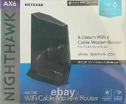 NETGEAR Cable Modem WiFi 6 AX6 Router Cable Gateway DOCSIS 3.1 A AX2700