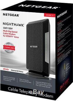 NETGEAR Nighthawk 32 x 8 DOCSIS 3.1 Voice Cable Modem Black