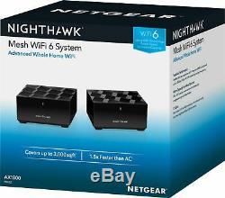 NETGEAR Nighthawk AX1800 Dual-Band Mesh Wi-Fi 6 System (2-Pack) Black