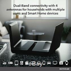 NETGEAR Nighthawk AX8 8-Stream AX Wi-Fi 6 Router 802.11ax, AX5700 (RAX75)