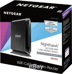 NETGEAR Nighthawk Dual-Band AC1900 Router with 24 x 8 DOCSIS 3.0 Cable Mode