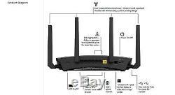 NETGEAR Nighthawk R9000-100NAR AD7200 802.11ac/ad Quad-Stream wifi Router