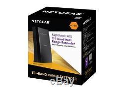 NETGEAR Nighthawk X6S Tri-Band Wi-Fi Range Extender with FastLane3, Smart Roamin