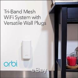 NETGEAR Orbi Home Mesh WiFi System 3-Pack Wall-Plug Version RBK33 Covers 5000 sf