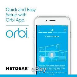 NETGEAR Orbi Plug-in Satellite, Works with Alexa, Up to 1,500 sqft, AC2200 (RBW30)