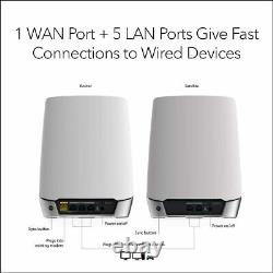 NETGEAR Orbi Whole Home Tri-band Mesh WiFi 6 Router System