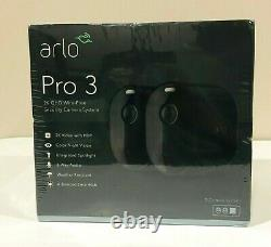 NEW! Arlo Pro 3 2-Camera Indoor/Outdoor Wireless 2K HDR Security Camera System